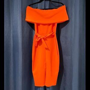 Off The Shoulder Midi-Dress